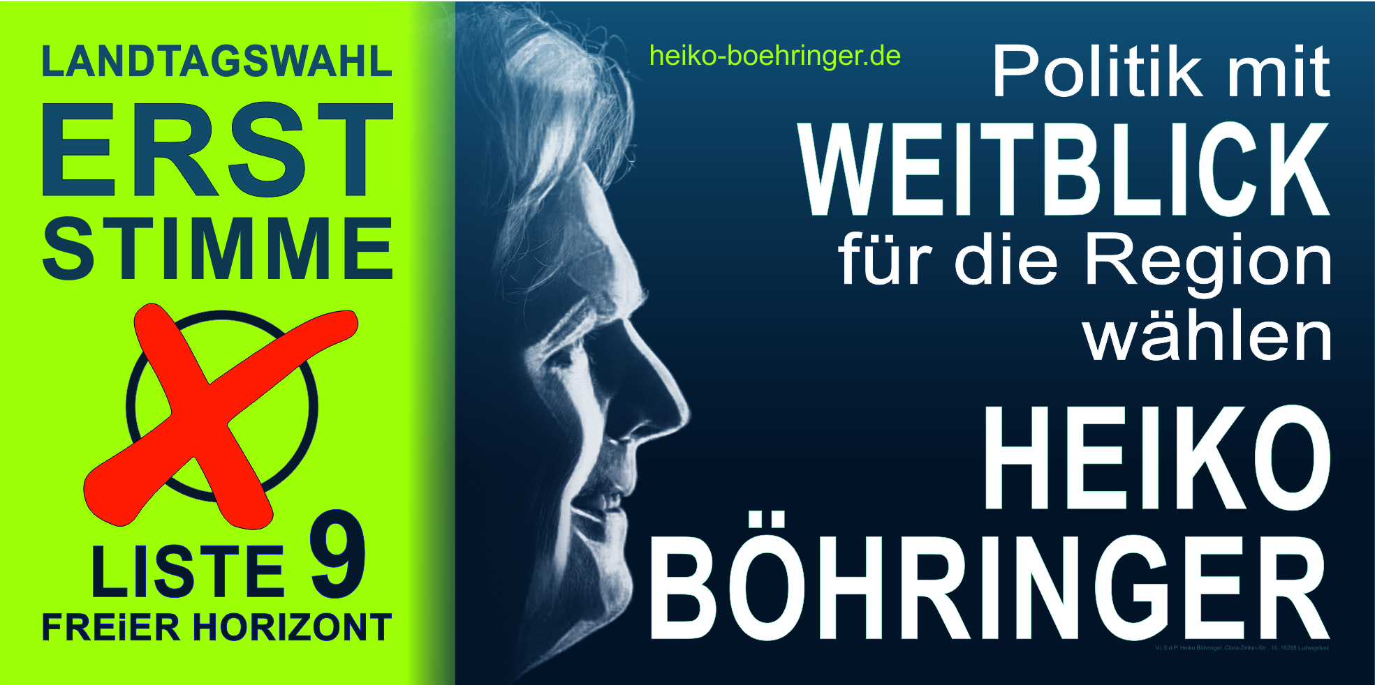 Heiko Böhringer - Direktkandidat FREiER HORIZONT Landtagswahlen MV 2021